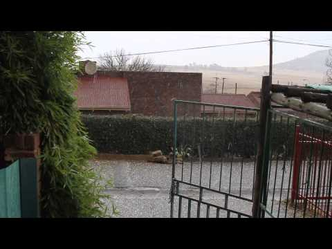 hail storm in maseru,lesotho
