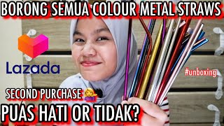 I BOUGHT METAL STRAWS | all colours | unboxing | reaction | save the earth | save the turtles