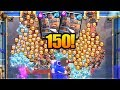 150 ROYAL RECRUITS! Clash Royale NEW WORLD RECORD! Most Royal Recruits in One Match Gameplay!