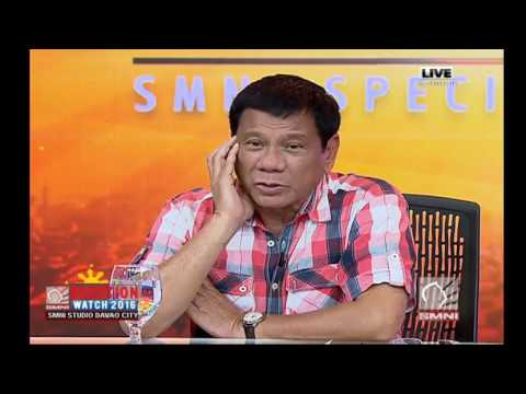 First Interview of the new President of the Philippines 1