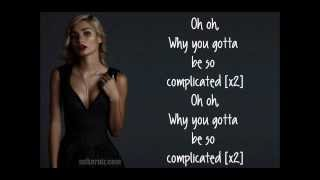 Pia Mia Complicated Lyrics.mp3
