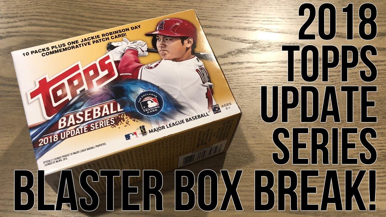 2018 Topps Baseball Update Series Target Blaster Box Break