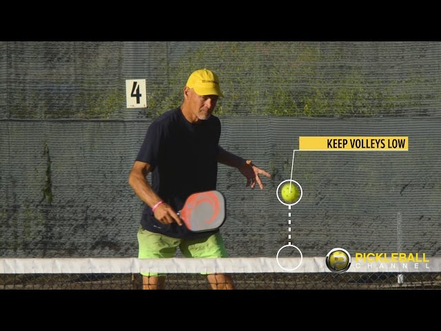 Drill to Improve Your Volley - Skills and Drills with the Pickleball Tutor Machine