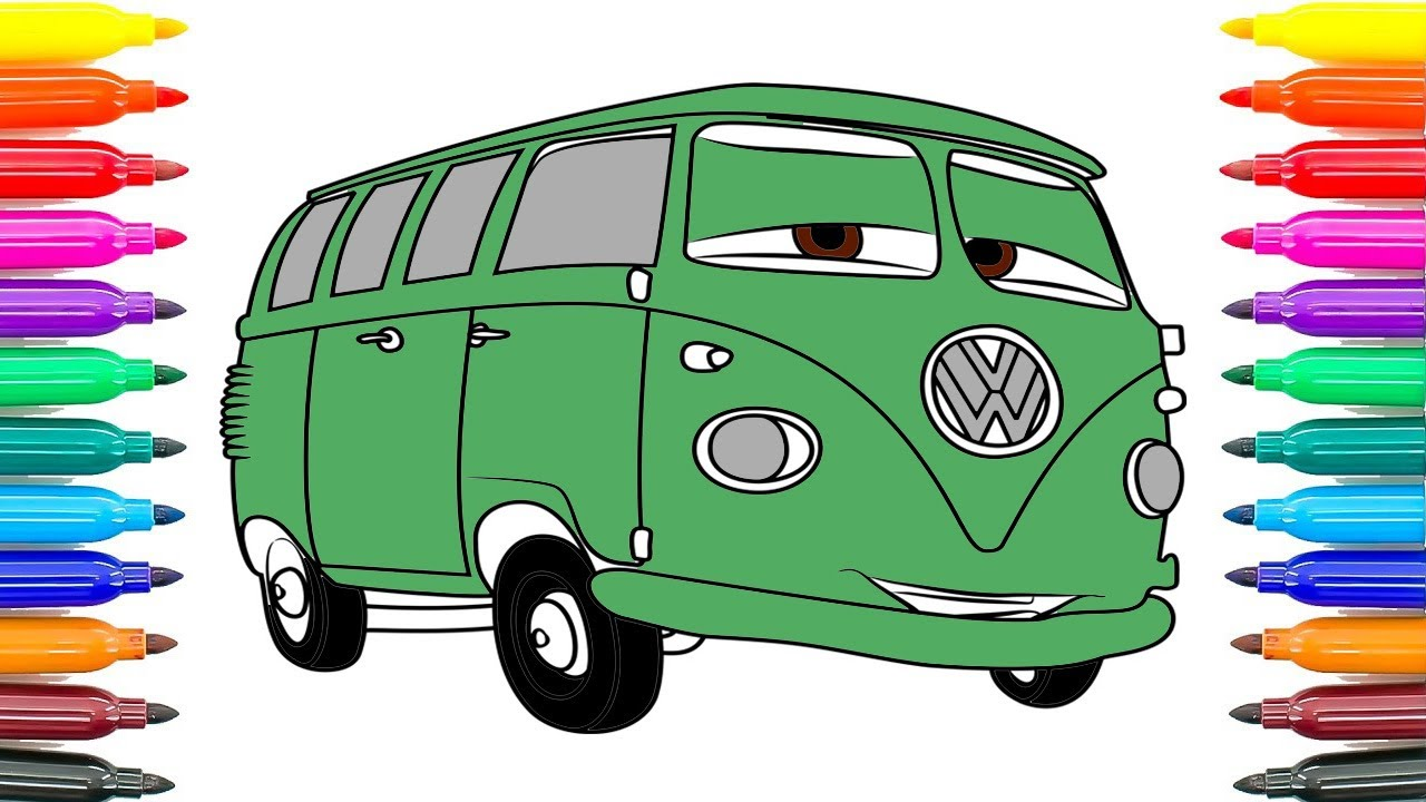How To Coloring Cars 3 Fillmore Coloring Pages For Kids How To