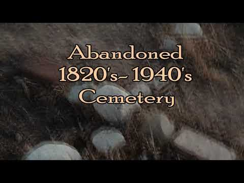 Abandoned 1820's Cemetery-Something FLY'S by grave - Ghost Hunt- Listen Closely