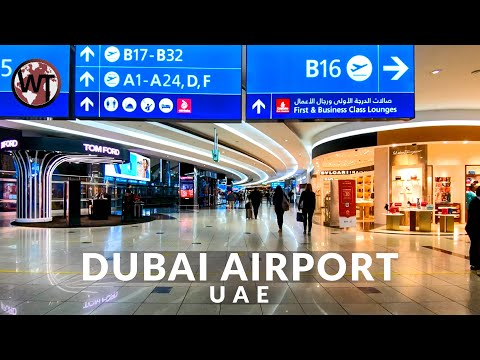 Dubai Airport (DXB), Terminal 1-3 - 🇦🇪 United Arab Emirates - 4K Virtual Tour