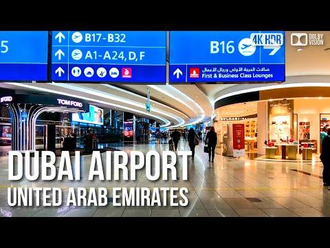 Dubai Airport (DXB), Terminal 1-3 - 🇦🇪 United Arab Emirates - 4K Virtual Tour