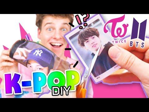 DESTROYING K-POP MERCHANDISE - and making it better!! KPOP DIY: BTS, TWICE, EXO  | HelloRasmus