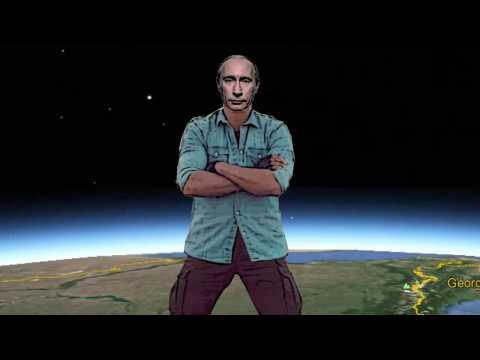 Putin's epic split, Van Damme style / Путин в стиле Ван Дамма
