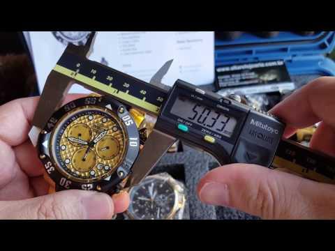 Relógio invicta subaqua 23805 lançamento calendário duplo cronógrafo movimento suíço