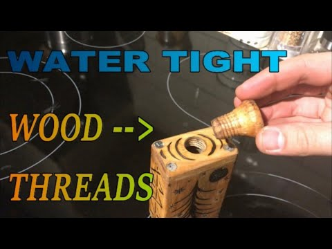 Wooden threads-Water tight-Flask-Loon vodka-