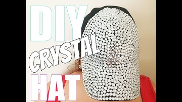 DIY CRYSTAL HAT: How to Make a $15 Rhinestone Bling Baseball Cap Fashion Craft