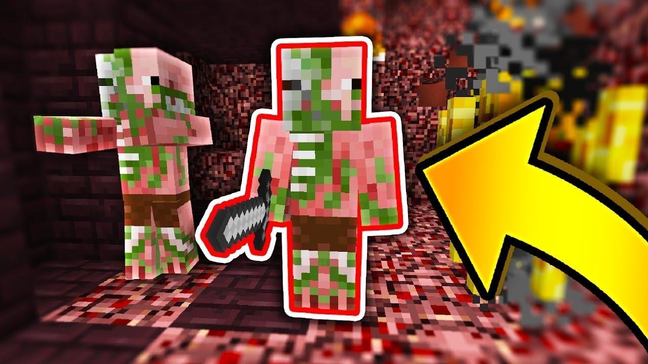 FAKE ZOMBIE PIGMAN SKIN TROLL! (Minecraft Murder Mystery) - YouTube