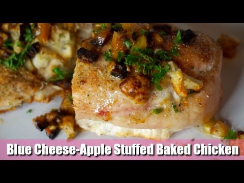 Blue Cheese-Apple Stuffed Baked Chicken | Meal Prep Series
