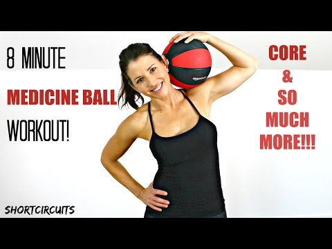 QUICK AND AWESOME MEDICINE BALL WORKOUT 8 MINUTES BEGINNER TO INTERMEDIATE