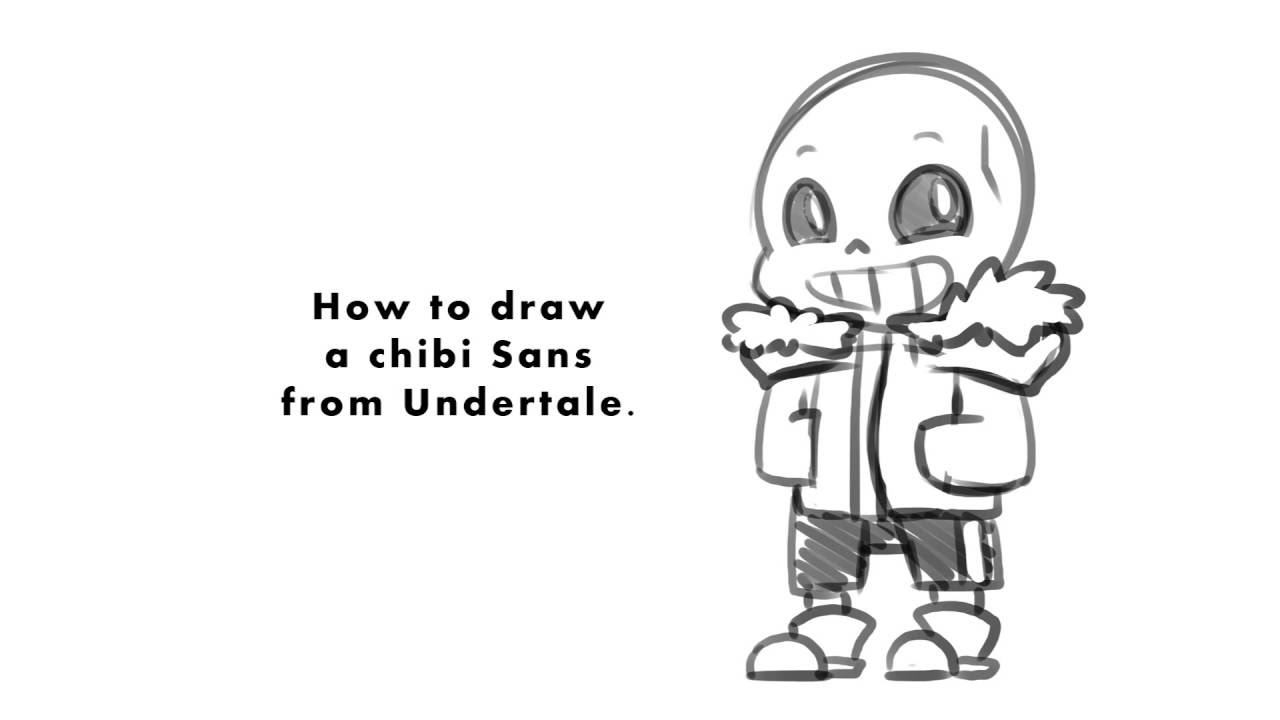 How to draw Chibi Sans Undertale YouTube