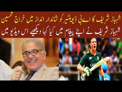 Shahbaz Sharif says ab devillier is a great tribute