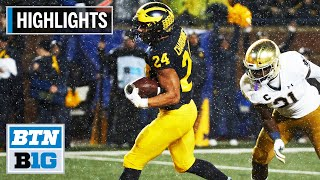 Highlights: No. 19 Michigan Upsets No. 8 Notre Dame | Notre Dame at Michigan | Oct. 26, 2019