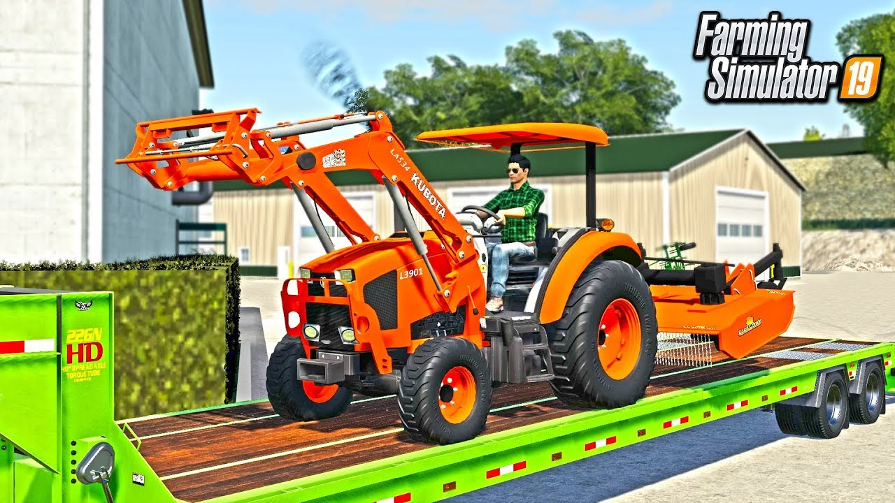 NEW KUBOTA TRACTOR FOR RCC PROPERTY MAINTENANCE! (CAME WITH BUSH HOG) |  FARMING SIMULATOR 2019