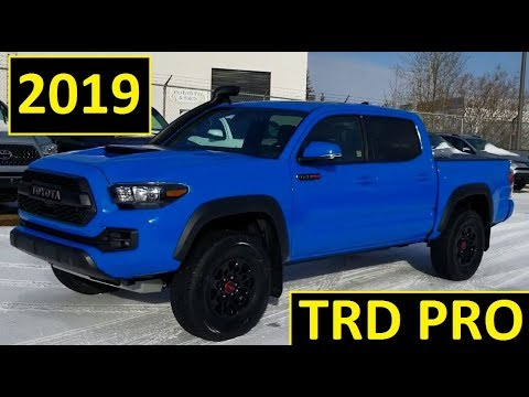 Blue Toyota Tacoma >> 2019 Toyota Tacoma Trd Pro In Voodoo Blue Double Cab Automatic Detailed Review Of Features And Walk