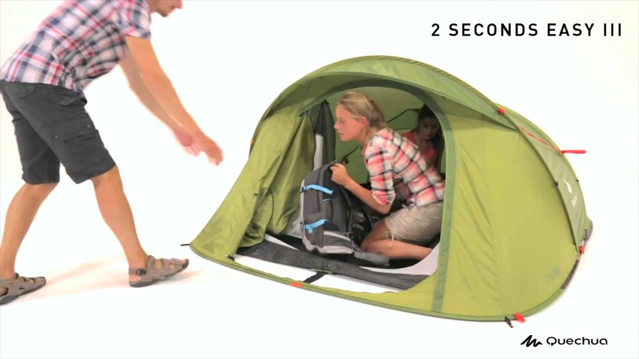 sc 1 st  YouTube & Quechua 2 SECONDS Tent - YouTube