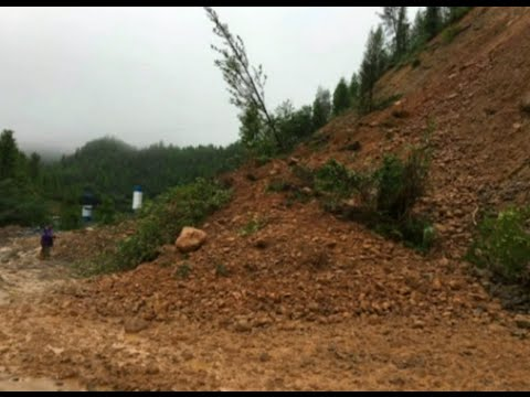 Terrifying Landslide Moment Recorded by Mobile in South China City