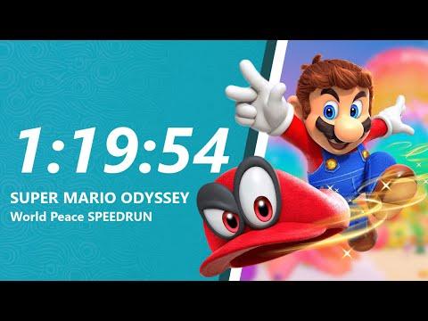 Download Youtube: Super Mario Odyssey - World Peace Speedrun in 1:19:54 [World Record]