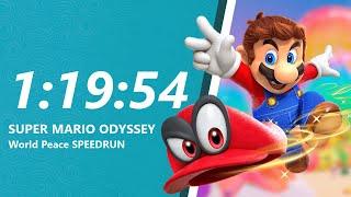 Super Mario Odyssey - World Peace Speedrun in 1:19:54 [World Record]
