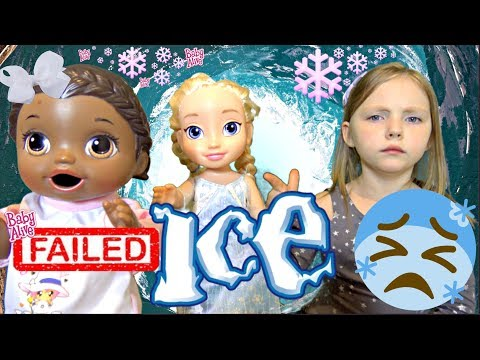 BABY ALIVE gets FROZEN! PLAYDATE DISASTER! The Lilly and Mommy Show. The TOYTASTIC Sisters
