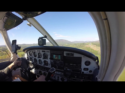 RNAV Runway 28 Final Approach into Ashe Co Airport (KGEV) in Jefferson, NC