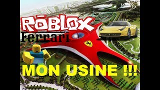 ROBLOX ON CONSTRUIT OF FERRARI !!!