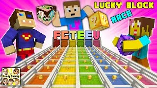 FGTEEV Minecraft Lucky Block Race #1: We Are Such Cheaters & Mom's a Noob (Mod Mini-Game)