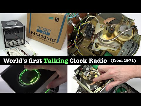 The fifty year old Talking Clock Radio