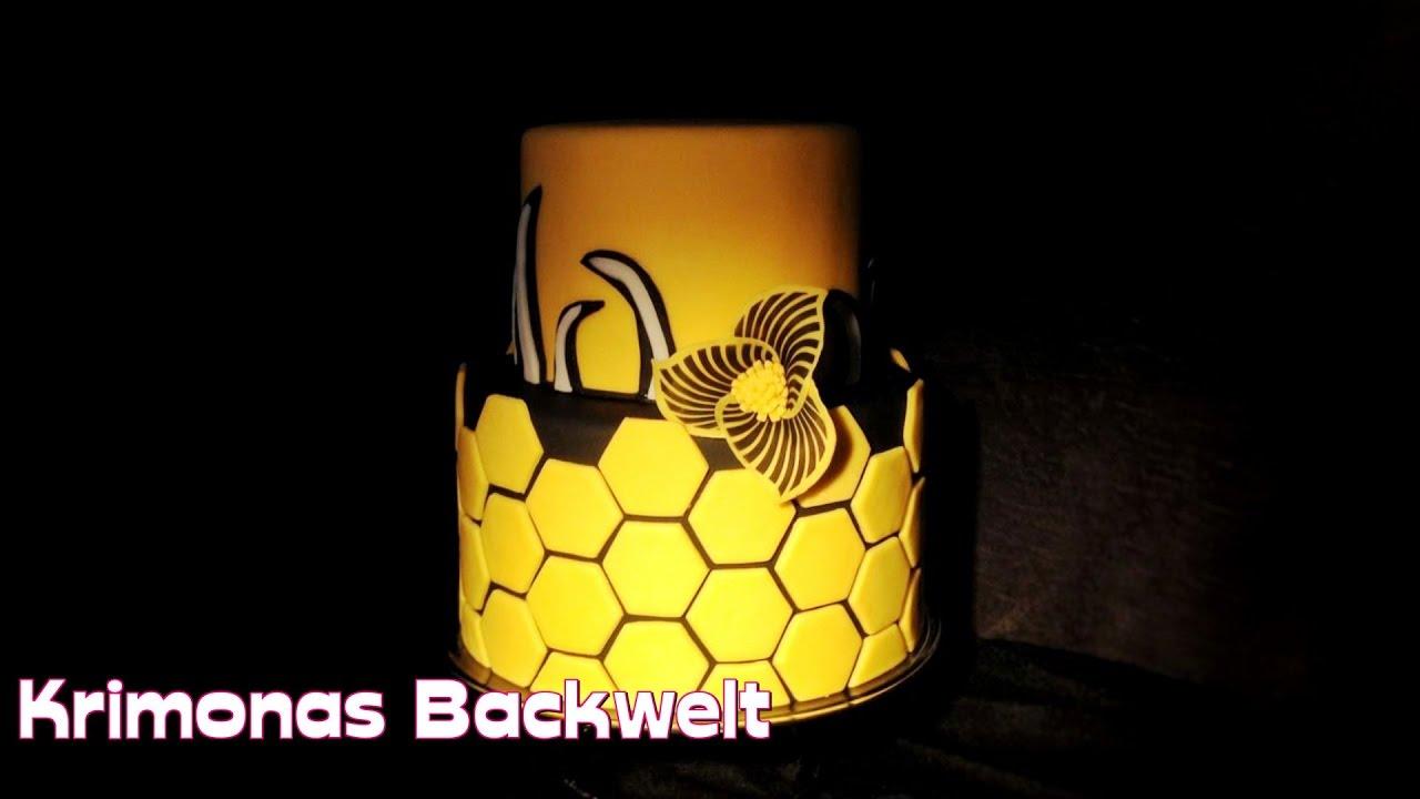 2 Stockige Honig Waben Fondant Hochzeitstorte Honeycomb Wedding