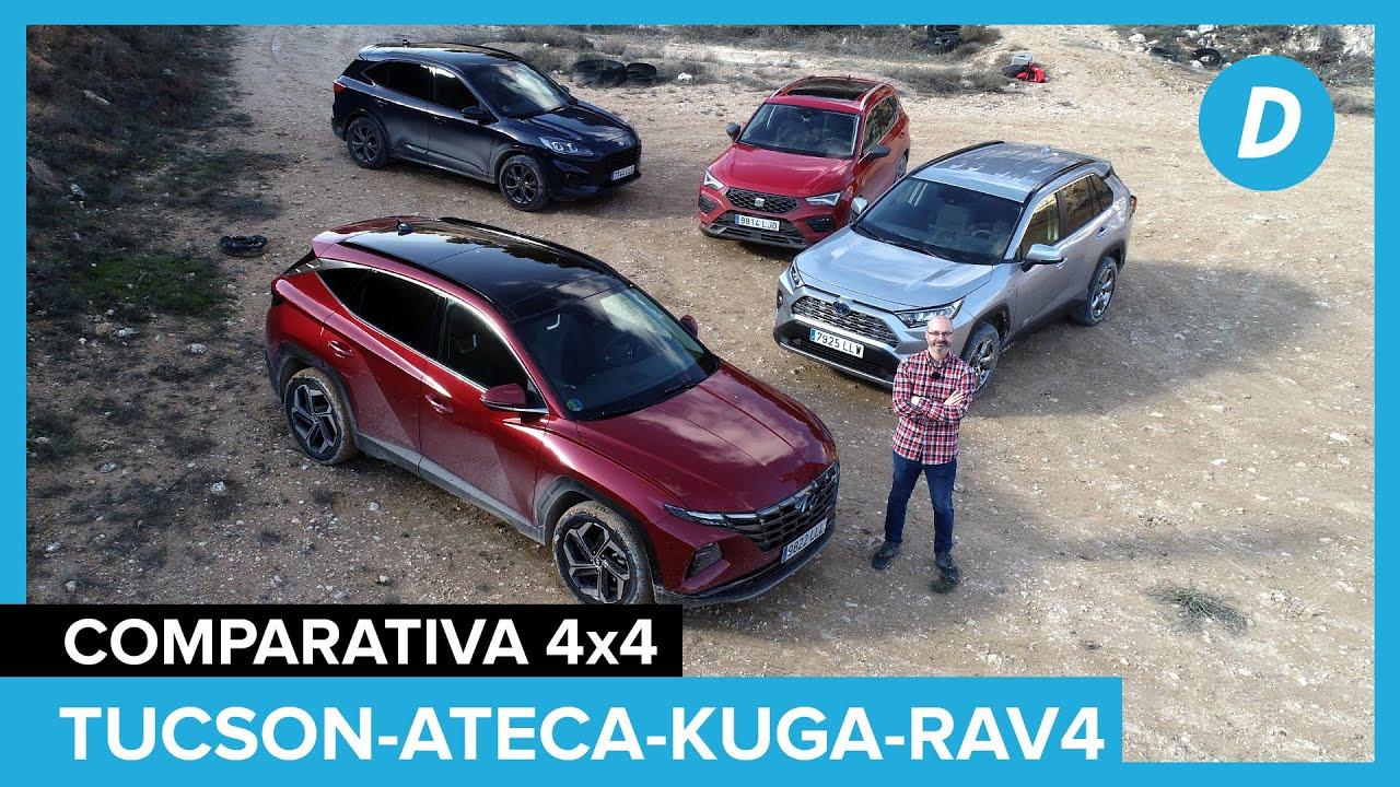Download Comparativa SUV 4x4 al límite! SEAT Ateca, Ford Kuga, Toyota RAV4, Hyundai Tucson 2021 | Diariomotor