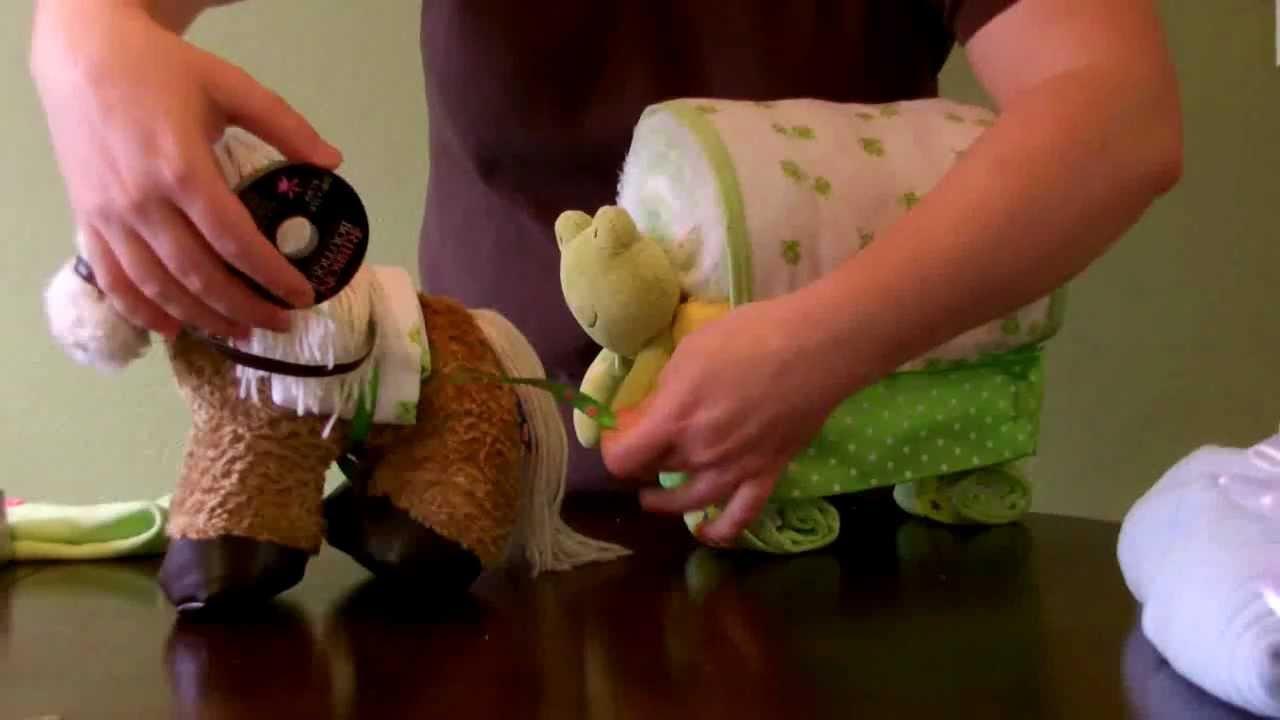 Horse Themed Diaper Cake