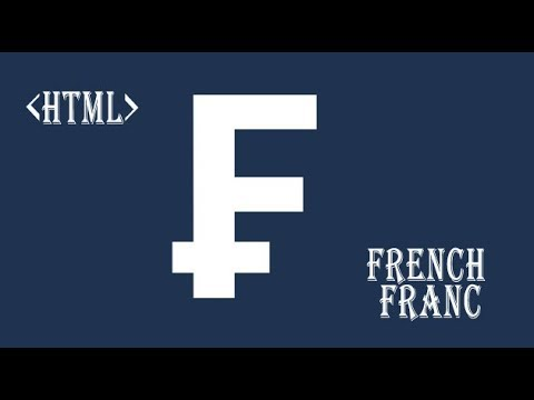 HTML French Franc Symbol Currency