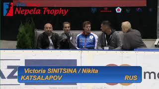 SINITSINA / KATSALAPOV - Ondrej Nepela Trophy 2018  Ice Dance - Rhythm Dance - Sept 21, 2018