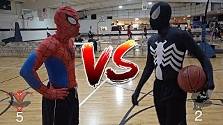 SPIDERMAN VS. VENOM BASKETBALL!!