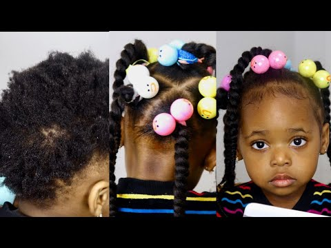 Can T Braid Try This Protective Hairstyles For Short Natural Hair 2year Old Kid Toddler Black Kid Youtube
