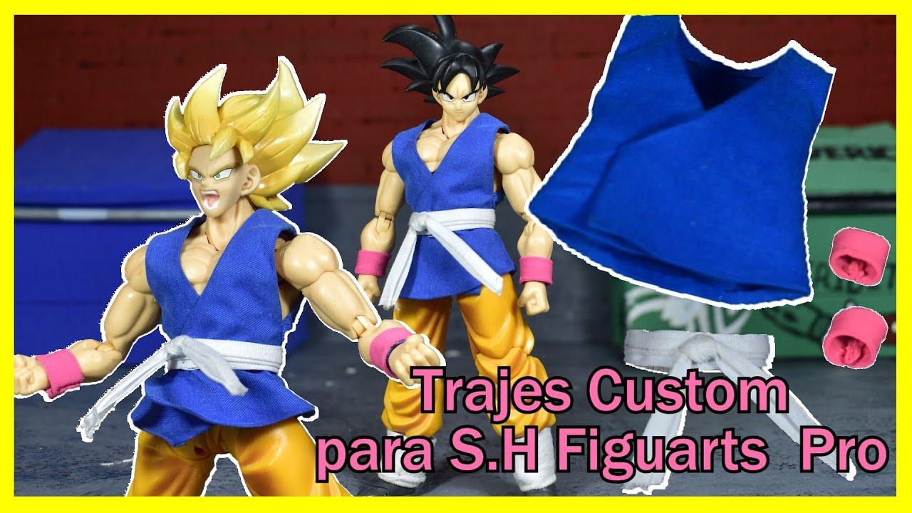COMO TENER UN MEZCO DE DRAGON BALL 😮 || Traje de Tela Custom || S.H Figuarts || Goku GT || Review ||