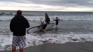 RI Surfers Healing pair up with children at Narragansett beach