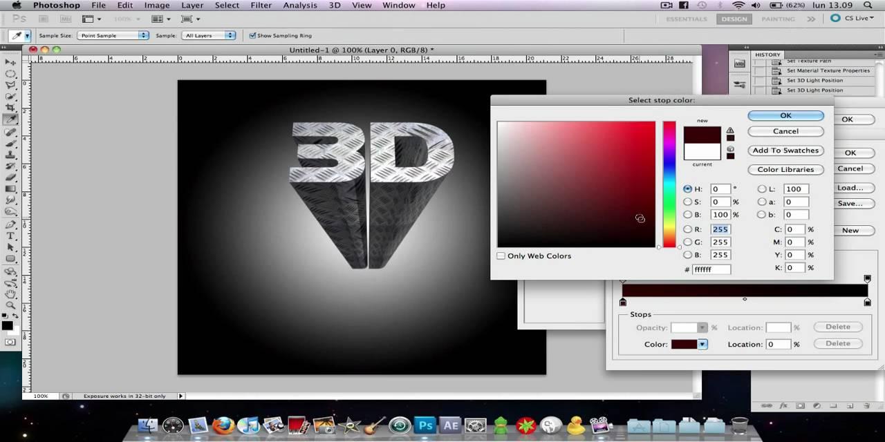 Come creare una scritta 3d in photoshop cs5 youtube for Programmi per creare case in 3d