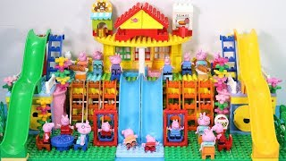 Peppa Pig Lego House With Water Slide Toys - Lego House Creations Toys For Kids #7