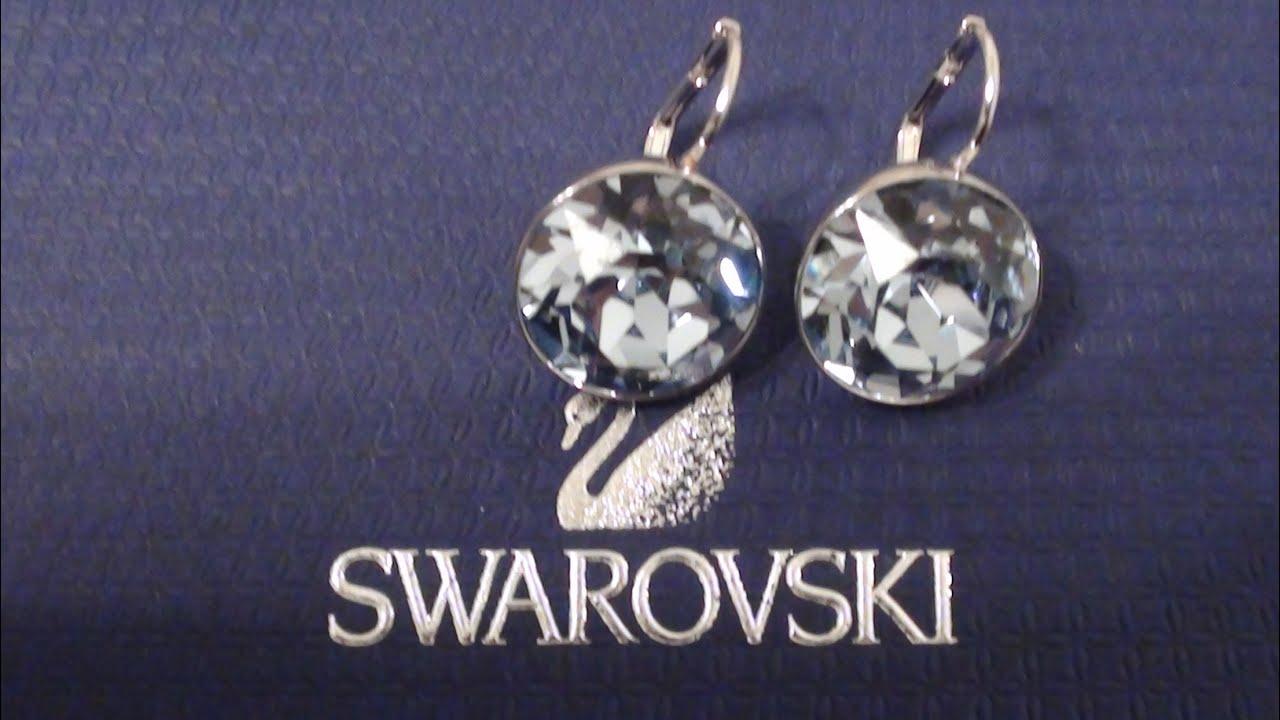 Swarovski Earrings Bella Silver Light Blue Crystal Drops