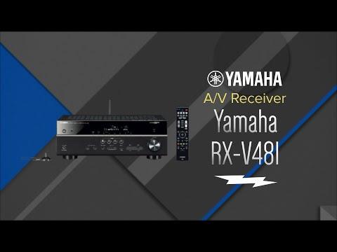 Yamaha 5.1 Channel Black Network A/V Receiver RX-V481 - Overview