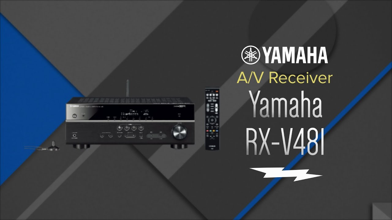 yamaha 5.1 channel black network a/v receiver rx-v481 - overview