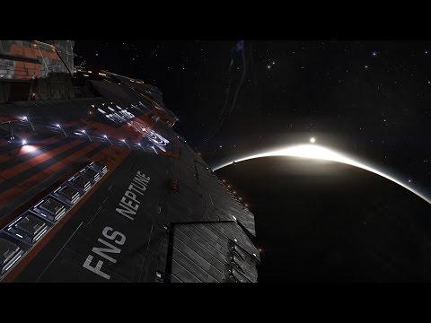 Elite Dangerous Closer look at Federal Capital Ship (Farragut Class Battlecruiser)