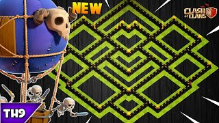 NEW TOWN HALL 9 FARMING/TROPHY BASE 2018! TH9 HYBRID FARM BASE WITH REPLAYS!! - CLASH OF CLANS(COC)