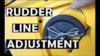 Hobie Rudder Line Adjustment